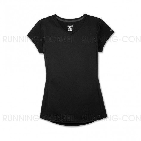 BROOKS STEALTH SHORT SLEEVE FEMME | BLACK | Collection Printemps-Été 2019