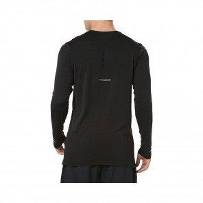 ASICS Tee-Shirt manches longues sans coutures homme   Black