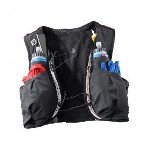 SALOMON - Sac / Gillet SENSE ULTRA 8 SET - black / racing red